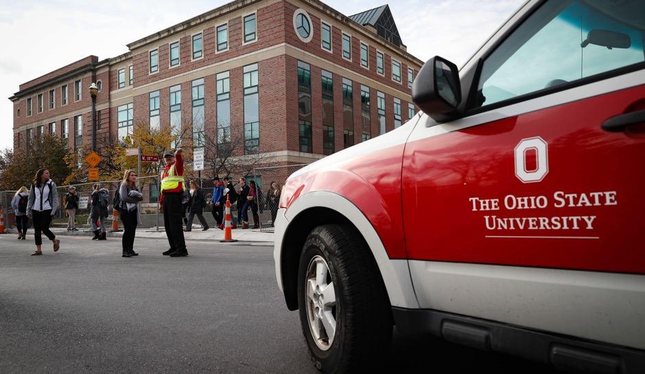 Student stabs, plows pedestrians at OSU