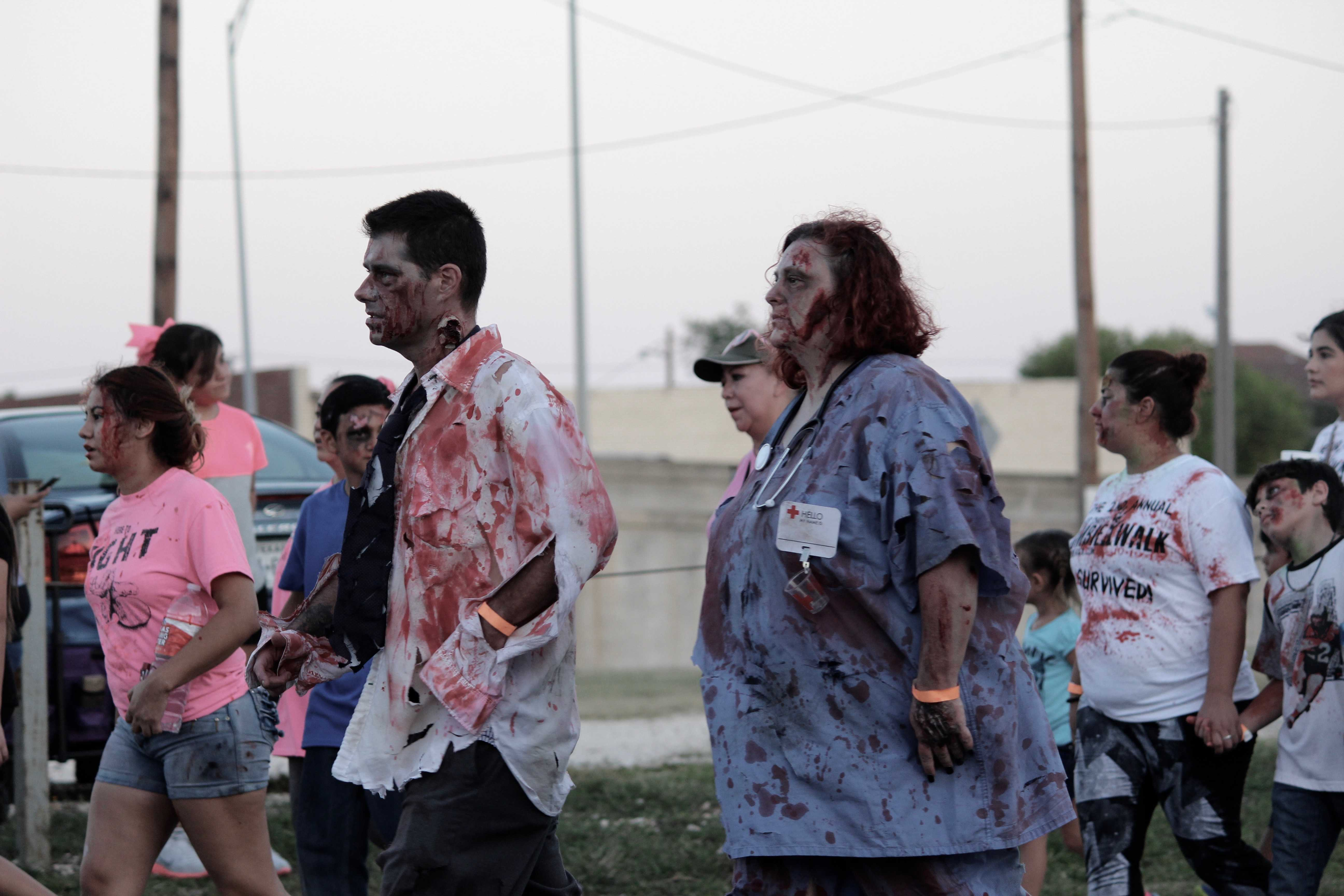 Zombies walk for a good cause