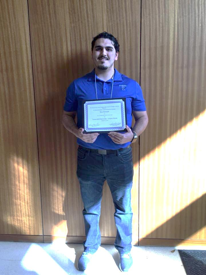 Image courtesy facebook.com/TAMUCC Outstanding Islander Noe DeAnda was voted Student of the Year.