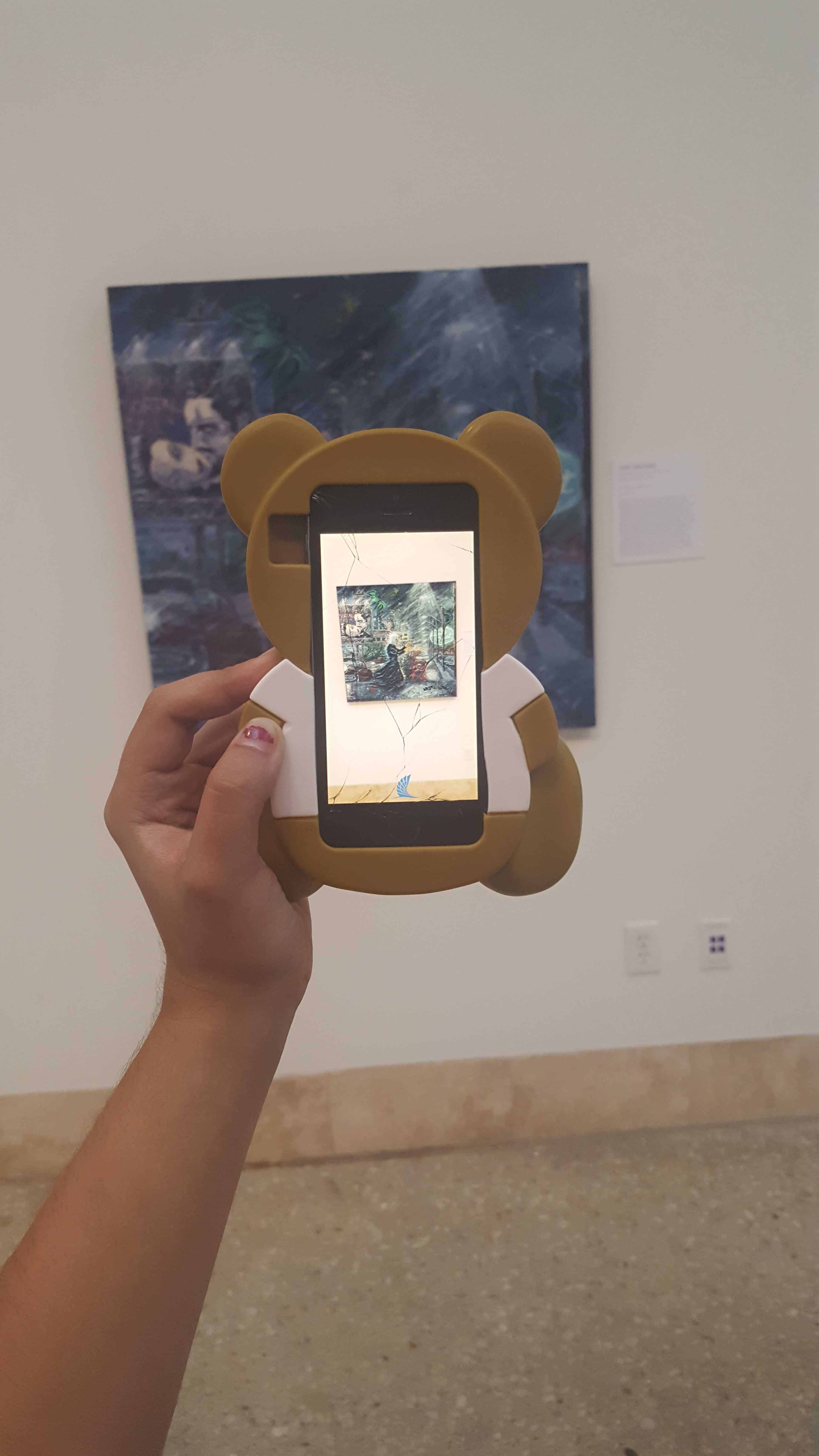 Photo by Illi-Anna Martinez/ISLAND WAVES                   Cheech Marin virtual app provides a new experience for Art Museum of South Texas visitors.