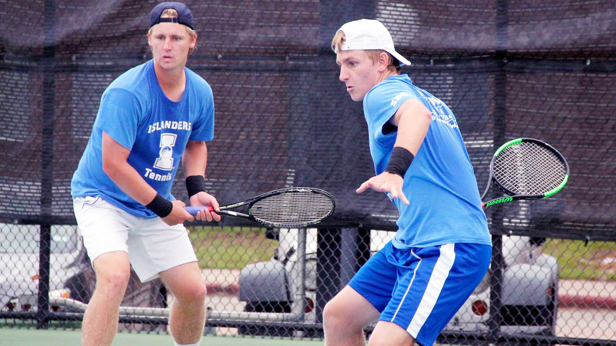Twin brothers are undefeated on Islander Tennis team