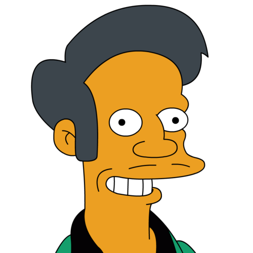 Image courtesy of hinduperspective.com/THE HINDU PERSPECTIVE Simpson character Apu Nahasapeemapetilon.