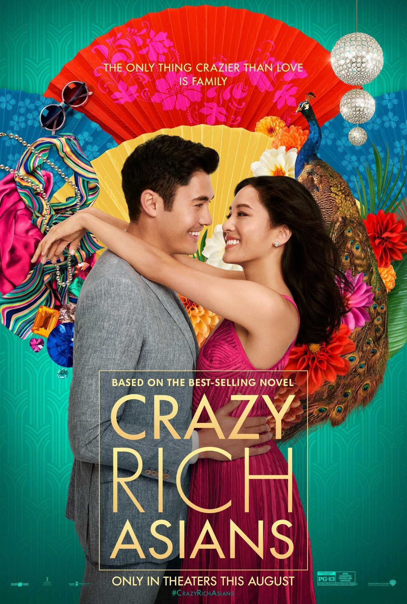 Warner Bros. movie campaign poster for Crazy Rich Asians. Image courtesy of iMDb.