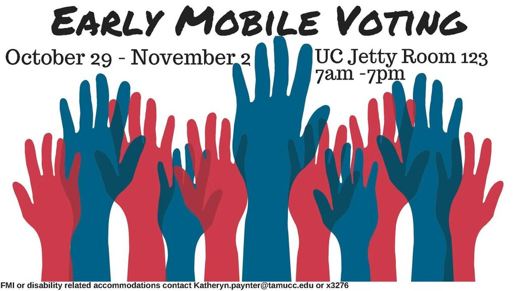If you are deciding to vote early, take advantage of the convenient location and times on campus this midterm elections. Image Courtesy of Connar Allen