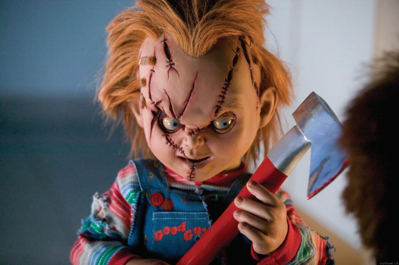 "Still from ""Seed of Chucky,"" released back in 2004. Sure, it was more comedy than horror, but seriously,  I don't need this to come back to theaters. Chucky's face has had enough and so have I! Source: https://outnow.ch/Movies/2004/SeedOfChucky/Bilder/016"