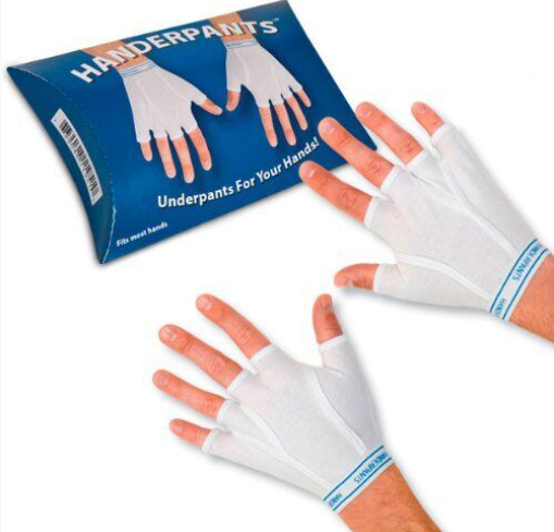 Image courtesy of Accoutrements/Amazon.com  Handerpants for sale on amazon.com