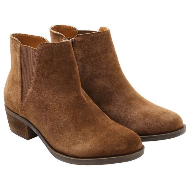 Kensie Girl suede bootie in brown.