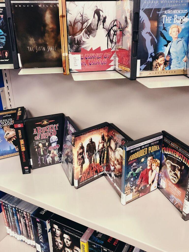The Mary and Jeff Bell Library offers a great selection of spooky films for you to check out. Photo by Jessie Monsivais