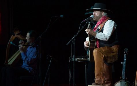 Image courtesy of photos.tamucc.edu/TAMU-CC MAR COM Michael Martin Murphey performs during his 2016 Cowboy Christmas Concert in the PAC.