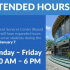 Extended hours for student services center