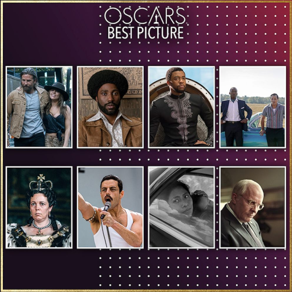 Image courtesy of the Academy of Motion Picture Arts and Sciences. Eight films will compete tonight for the title of Best Picture.