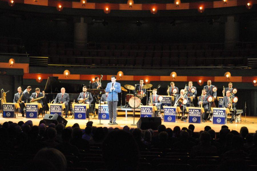 The Glenn Miller Orchestra ends a set