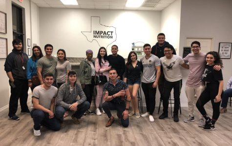 Upcoming artists played at Impact Nutrition open mic