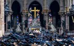 Photography courtesy of BBC News, The remnants of damage shown inside Notre Dame