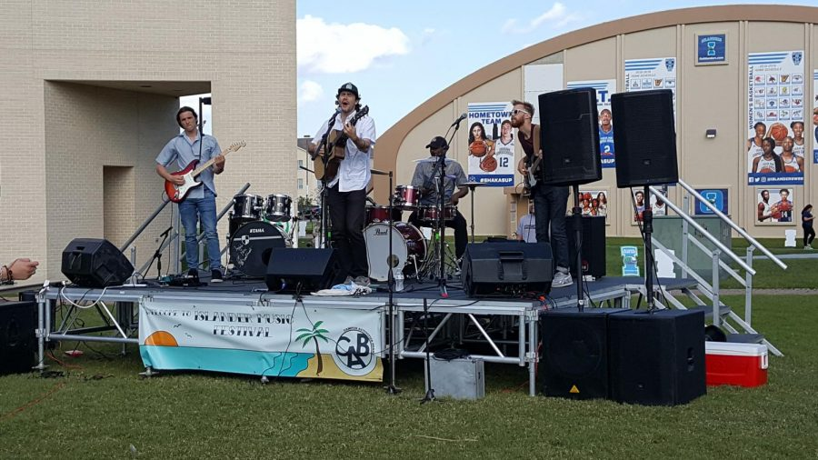 Raul Alonzo Jr./Island Waves -  Nashville-based band Arts Fishing Club performs at the Islander Music Festival.