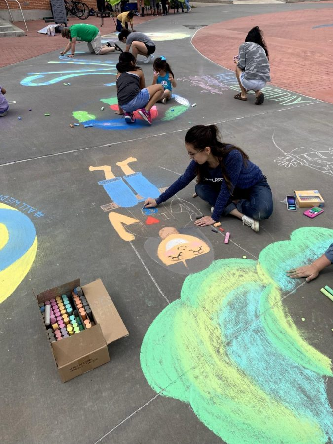 TAMU-CC Earth Day mural invited people to show why environment protection matters