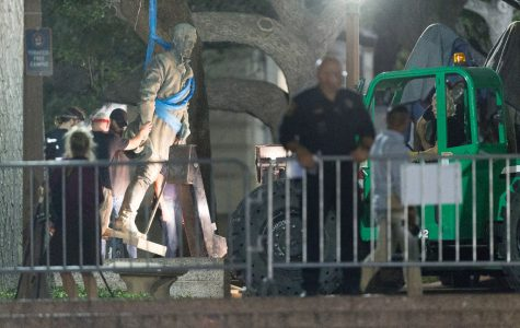 Dr. Walter L. Buenger discussed taking down confederate statues