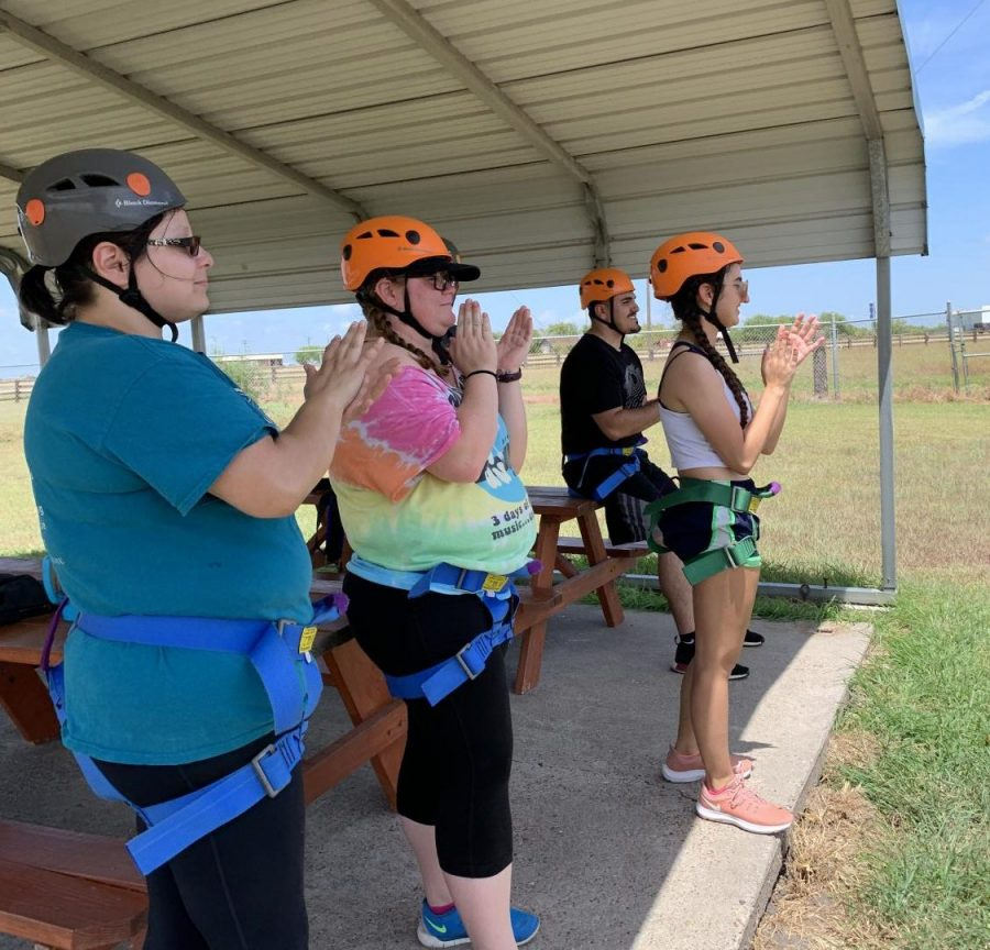 Outdoor Adventure class takes on high-ropes