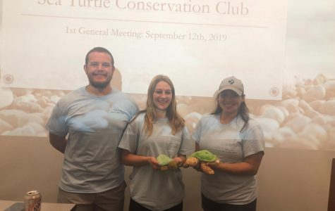 Photo by Gabriella Ruiz: TAMU-CC's Sea Turtle Conservation Club had their first meeting for the 2019-2020 academic year.