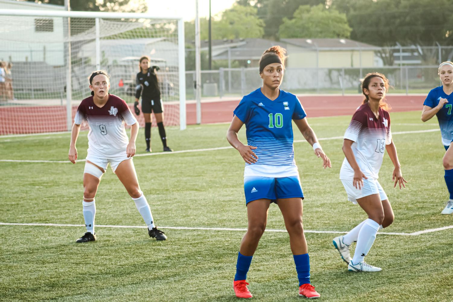 All photography courtesy of Kedran Wade/ISLAND WAVES -Larissa Fagundes scored the first goal of the game in less than seven minutes.