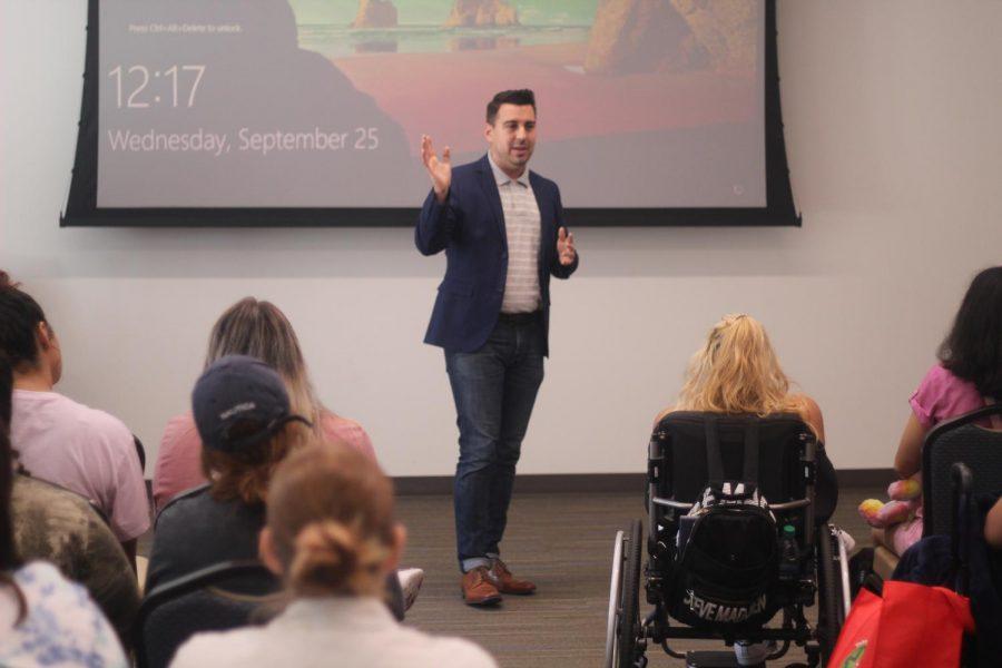Kedran Wade/ISLAND WAVES - Texas A&M University-Corpus Christi alumnus Eric Holguin talks about his experiences in public service, especially with the LGBTQ+ community.