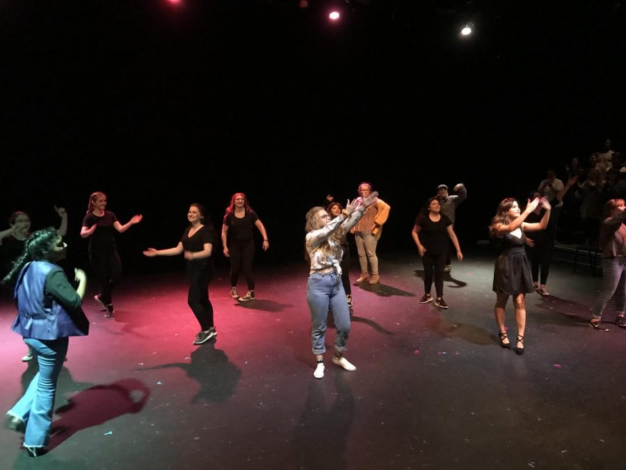 """Matthew Tamez/ISLAND WAVES - Anton in Show Business"""" ended with a final dance sequence set to the tune of """"Cotton-Eye Joe."""""""