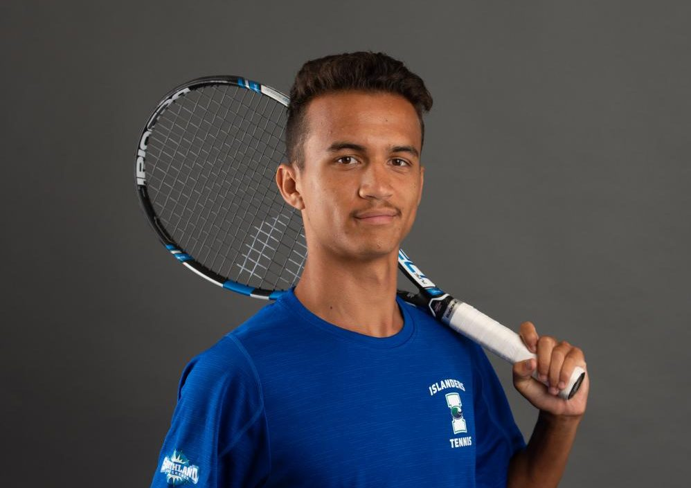 Photo courtesy of Islander Athletics/TAMU-CC - Freshman Pascal Lorieul was a highly recruited tennis prospect from France. Lorieul signed a letter of intent with the Islanders last spring.