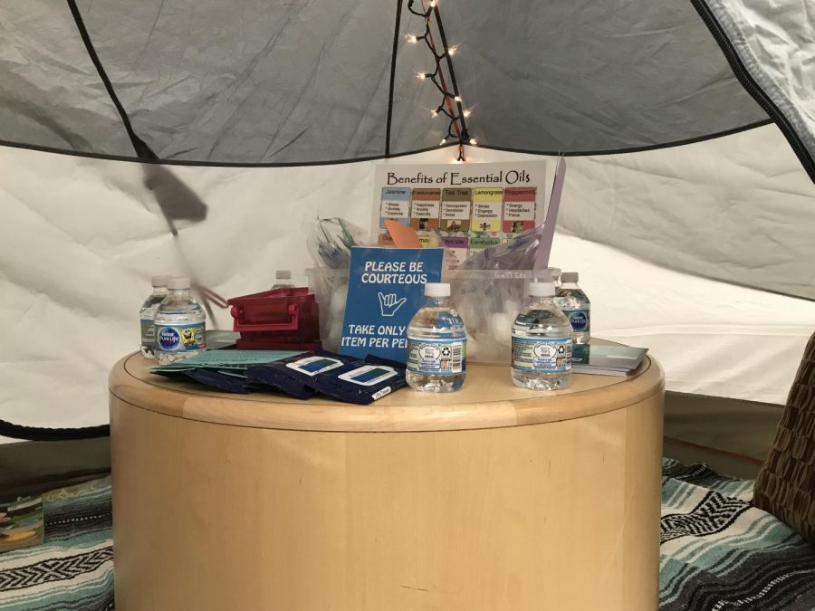 Matthew Tamez/ISLAND WAVES - The pop-up relaxation center offers coloring and aromatherapy.