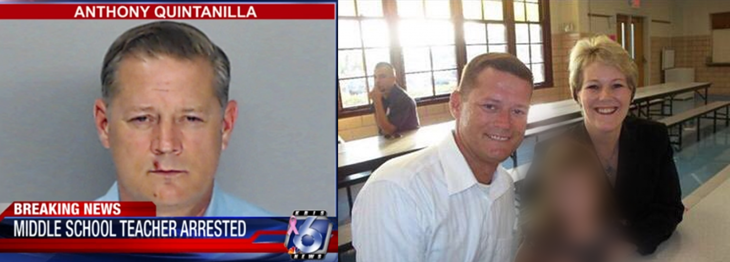Left, courtesy of KRIS 6 News, right courtesy of Facebook.  Left, Anthony Quintanilla.  Right, an undated picture from Pres. Kelly Quintanilla's Facebook.
