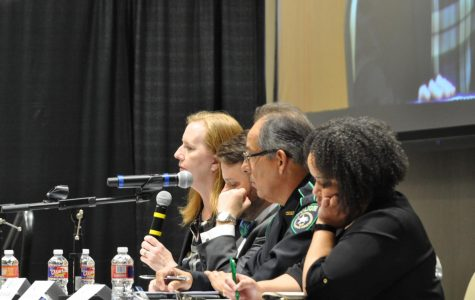 Matthew Tamez/ISLAND WAVES- A panel of qualified individuals spoke about threats and ways to avoid them during the training.
