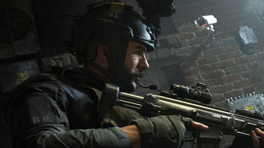 "Photo courtesy of PC Gamer - SAS Captain John Price leads his squad on a stealth operation to take down terrorists in Camden Town in ""Call of Duty: Modern Warfare."""