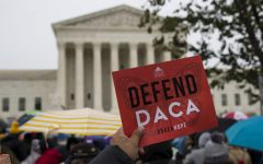 Photography courtesy of the New York Daily News - Protesters rally in front of the Supreme Court in Washington, D.C., as hearings begin over whether or not the Deferred Action for Childhood Arrivals (DACA) program will end. With a decision expected early next year, groups are pushing for those currently enrolled in the program to renew their status. The local office of RAICES will be holding a workshop on Friday, Dec. 6, where they will offer free consultations to those looking to renew.