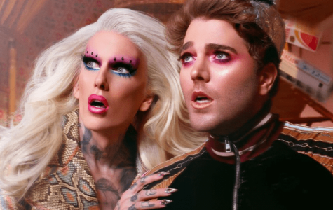 Photo courtesy of Shane Dawson and Jeffree Star - Shane Dawson and Jeffree Star pose for their new launch of their Conspiracy Collection.