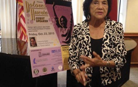Civil rights activist Dolores Huerta gave a speech during the 2015 Coastal Bend Social Forum at Del Mar College. (Courtesy of Coastal Bend Social Forum/FACEBOOK)