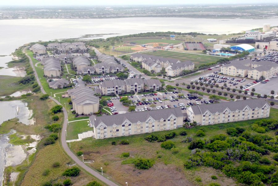 Miramar student housing complexes as seen from the air.