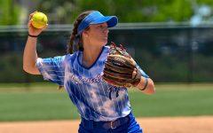 Emily Vela pitches against Sam Houston State University.