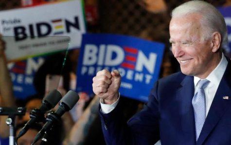 Biden celebrating election results.