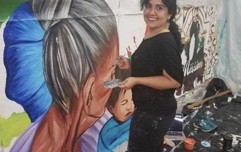Sandra Gonzalez is seen working on her latest project located in San Antonio.