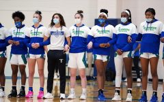 The women's basketball team tests for the coronavirus three times a week.
