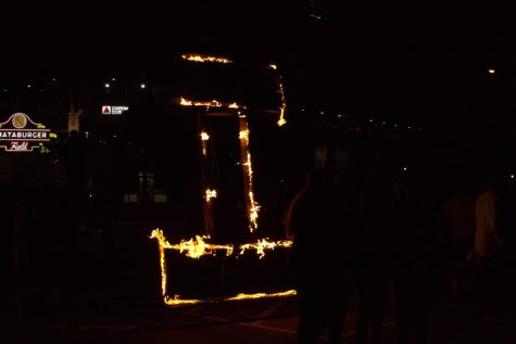 The Lighting of the I was one of many Homecoming traditions that continued after the winter storm