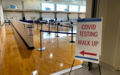 The Dugan Gymnasium has been set up for required COVID-19 testing by the university and wrapped up it's last week of testing.